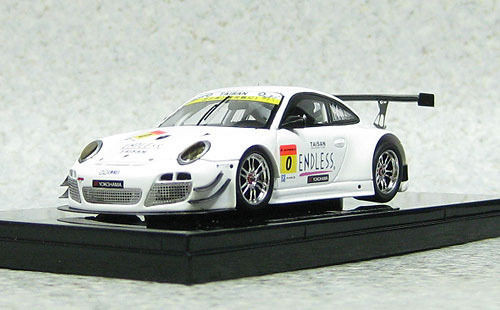 Ebbro 44949 ENDLESS TAISAN PORSCHE SUPER GT300 2013 No.0 Okayama Test 1/43 Scale