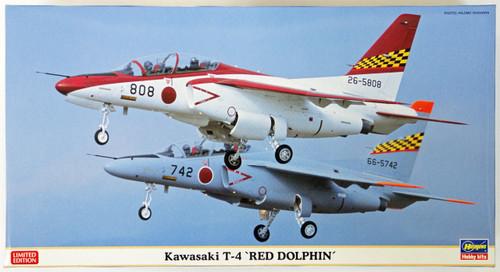 Hasegawa 07380 Kawasaki T-4 Red Dolphin 1/48 Scale Kit