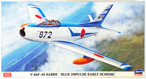 Hasegawa 07381 F-86F-40 Sabre Blue Impulse Early Scheme 1/48 Scale Kit