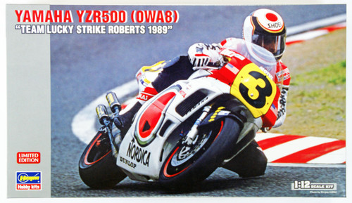 Hasegawa 21710 Yamaha YZR500 (OWA8) Team Lucky Strike Roberts 1989 1/12 Scale Kit (Limited Edition)