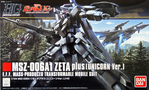 Bandai HGUC 182 Gundam MSZ-006A1 ZETA plus (Unicorn Version) 1/144 Scale Kit