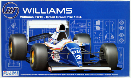 Fujimi GP SP39 F1 Williams FW16 Brazil GP 1994 with Driver Figure 1/20 Scale Kit