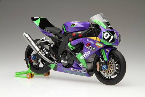 Fujimi Bike-SP Kawasaki ZX-10R Evangelion RT 01 2010 with Metal Muffler 1/12 Scale Kit