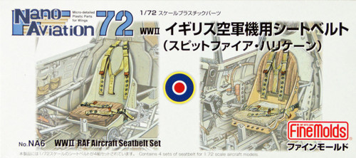 Fine Molds NA6 WW2 RAF Aircraft Seatbelt Set 1/72 Scale Kit