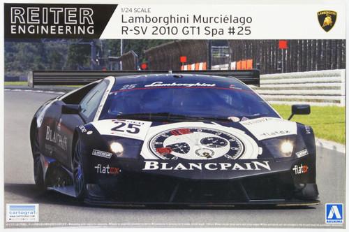 Aoshima 07136 Lamborghini Murcielago R-SV 2010 GT1 Spa #25 1/24 Scale Kit