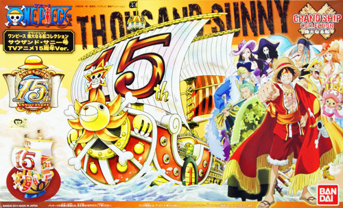 Bandai One Piece Grand Ship Collection Thousand Sunny (15 years Anniv. Version)