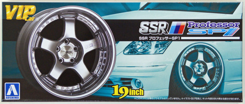 Aoshima 09185 VIP Car Tire & Wheel Set SSR Professor SP1 19 inch 1/24 Scale Kit