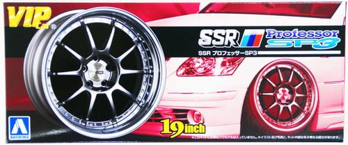 Aoshima 09192 VIP Car Tire & Wheel Set SSR Professor SP3 19 inch 1/24 Scale Kit