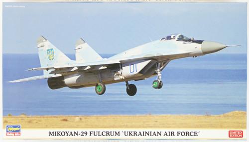 Hasegawa 02118 Mikoyan-29 Fulcrum Ukrainian Air Force 1/72 Scale Kit