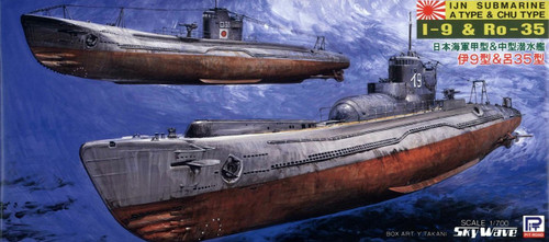Pit-Road Skywave SPW-23 IJN Submarine A Type & Chu Type I-9&Ro-35 1/700 Scale Kit
