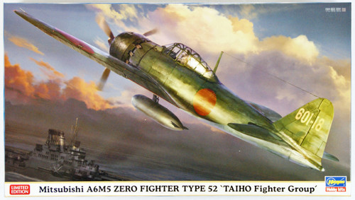 Hasegawa 07385 Mitsubishi A6M5 Zero Fighter Type 52 Taiho Fighter Group 1/48 Scale Kit