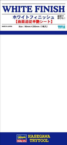 Hasegawa TF-11 White Finish 1 sheet (90 x 200mm)