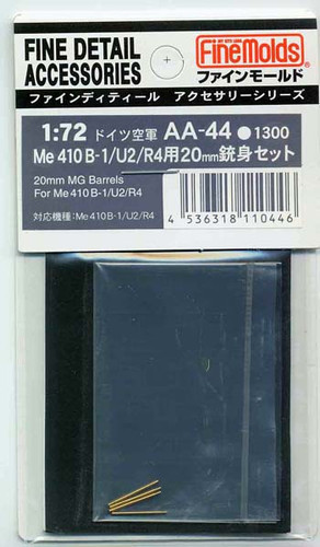 Fine Molds AA44 20mm MG Barrels For Me 410 B-1/U2/R4 1/72 Scale Kit