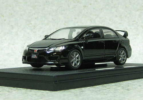 Ebbro 44884 Honda Civic Type-R FD2 late version Black 1/43 Scale