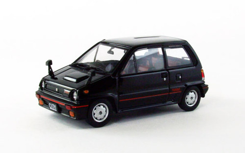 Ebbro 44970 Honda City Turbo 1982 Black 1/43 Scale .