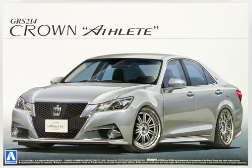 Aoshima 08508 GRS214 Toyota Crown Athlete G 2012 20 Inch Custom 1/24 Scale Kit