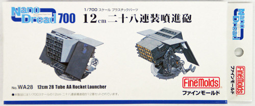 Fine Molds WA28 12cm 28 Tube AA Rocket Launcher 1/700 Scale Kit