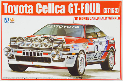 Aoshima 84229 Toyota Celica GT-Four ST165 1991 Monte Carlo Rally Winner 1/24 Scale Kit