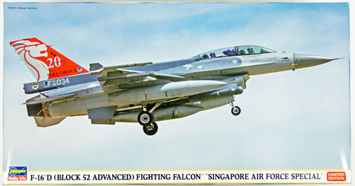 Hasegawa 07393 F-16D (Block 52 Advanced) Fighting Falcon Singapore Air Force Special 1/48 Scale Kit