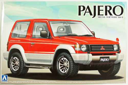 Aoshima 14141 Mitsubishi Pajero Metal Top Wide XR-II 1/24 Scale Kit