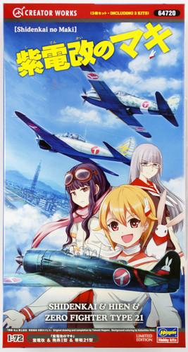 Hasegawa 64720 Shidenkai, Hien, Zero Fighter Type 21 1/72 Scale Kit