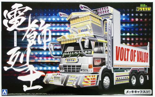 Aoshima 15308 Japanese Decoration Truck Denshoku Resshi 1/32 Scale Kit