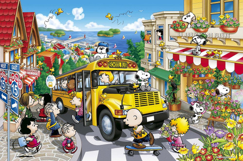 Epoch Jigsaw Puzzle 11-527 Peanuts Snoopy Happy School Bus (1000 Pieces)