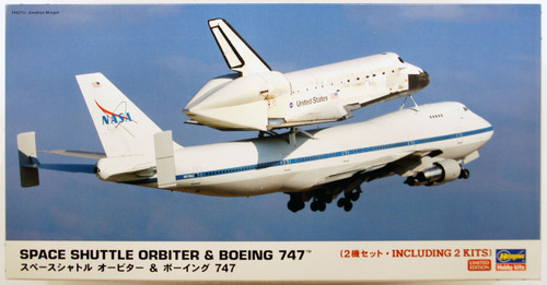 Hasegawa 10680 Space Shuttle Orbiter & Boeing 747 1/200 Scale Kit