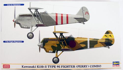 Hasegawa 02149 Kawasaki Ki10-II Type 95 Fighter (Perry) Combo 1/72 Scale Kit