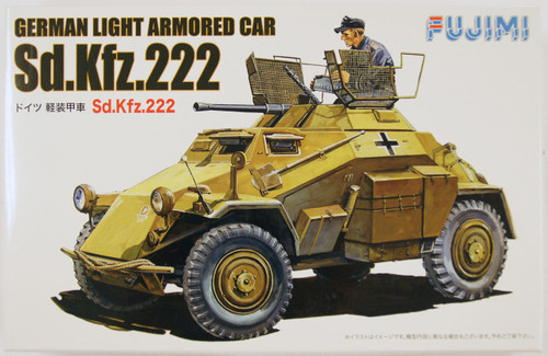 Fujimi WA19 World Armor German Light Armored Car Sd.Kfz.222 1/76 Scale Kit