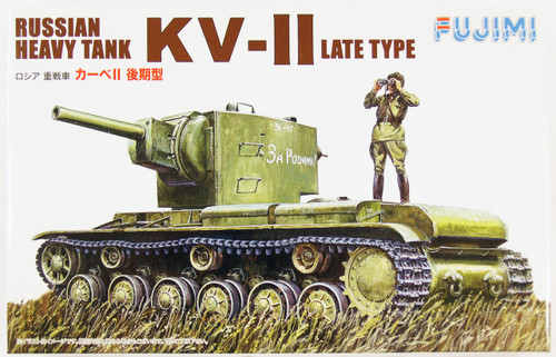 Fujimi WA37 World Armor Russian Heavy Tank KV-II Late Type 1/76 Scale Kit