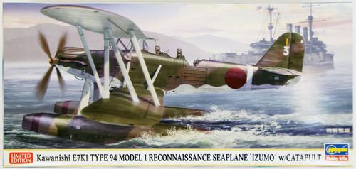 Hasegawa 02157 Kawanishi E7K1 Type 94 Model 1 Reconnaissance Seaplane Izumo with Catapult 1/72 Scale Kit