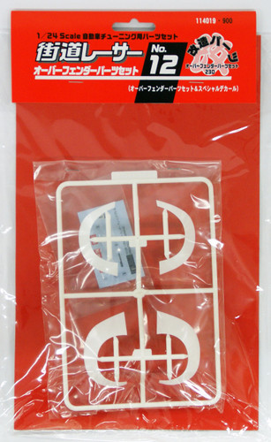Fujimi KR-12 Fender Set 12 Over Fender Parts Set & Special Decal Set 1/24 Scale