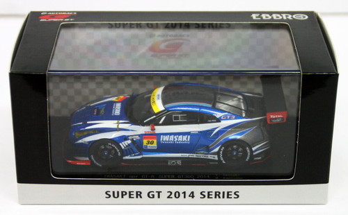 Ebbro 45079 IWASAKI apr GT-R SUPER GT300 2014 No.30 Blue 1/43 Scale