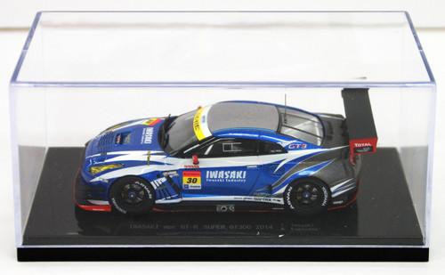 Ebbro 45079 IWASAKI apr GT-R SUPER GT300 2014 No.30 Blue 1/43 Scale