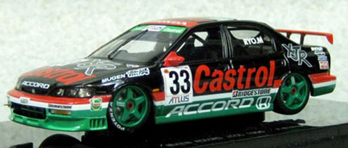 Ebbro 45136 CASTROL MUGEN ACCORD JTCC 1996 No.33 Black 1/43 Scale
