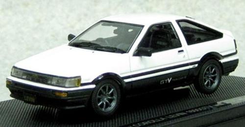 Ebbro 45184 Corolla Levin 1600 GTV with alloy wheel White/Black 1/43 Scale