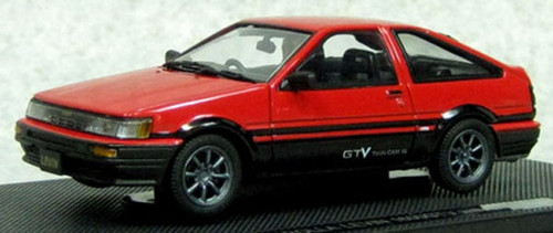 Ebbro 45185 Corolla Levin 1600 GTV with alloy wheel Red/Black 1/43 Scale
