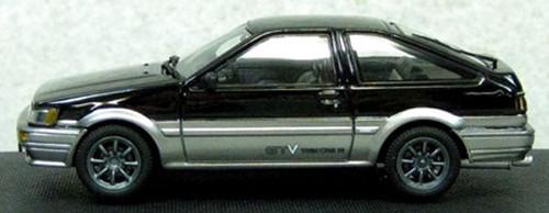 Ebbro 45187 Corolla Levin 1600 GTV with alloy wheel Black/Silver 1/43 Scale