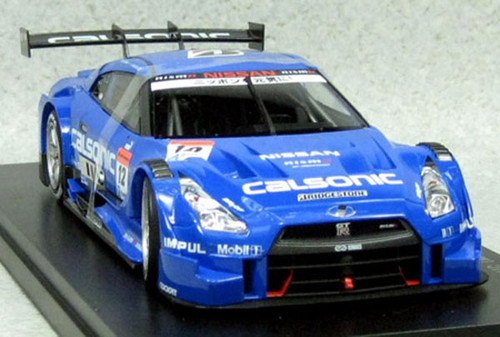 Ebbro 81017 CALSONIC IMPUL GT-R SUPER GT500 2014 Rd.2 Fuji No.12 Blue 1/18 Scale