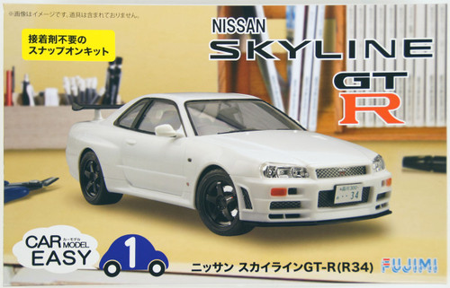 Fujimi Car-Easy 01 Nissan Skyline GT-R (R34) 1/24 Scale Kit