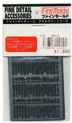 Fine Molds AA10 Fine Detail Accessories for German Aerial Antenna Set #1 1/72 Scale Kit