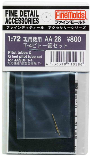 Fine Molds AA28 Pitot Tubes & Q Feel Pitot Tube Set for JASDF T-4 1/72 Scale Kit