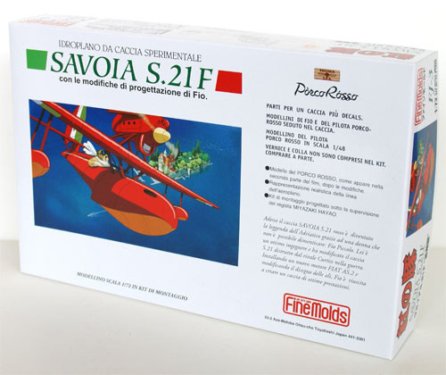 Fine Molds FJ3 SAVOIA S.21F Seaplane Latter Model PORCO ROSSO (Crimson Pig) 1/72 Scale Kit