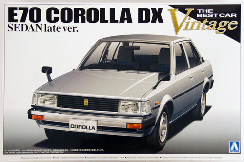 Aoshima 22283 E70 Toyota Corolla DX Sedan Late Version 1/24 Scale Kit