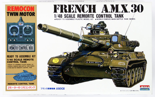 Arii 141540 French A.M.X 30 Remorte Control Tank 1/48 Scale Kit (Microace)