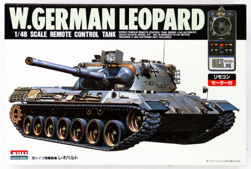 Arii 241028 W.German Leopard Remote Control Tank 1/48 Scale Kit (Microace)