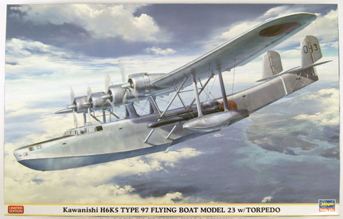 Hasegawa 02163 Kawanishi H6K5 Type 97 Flying Boat Model 23 with Torpedo 1/72 Scale Kit