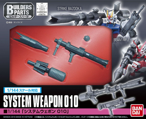 Bandai Builders Parts Gundam System Weapon 010 1/144 Scale Kit