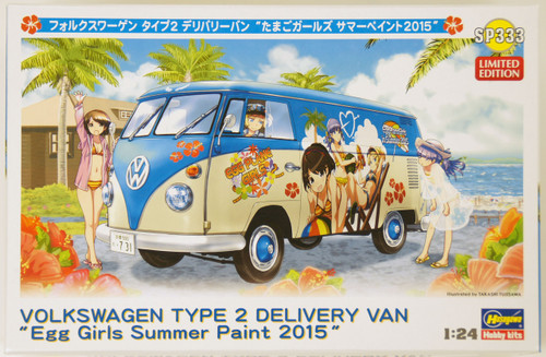 Hasegawa SP333 Volkswagen Type2 Delivery Van Egg Plane Girls Summer Paint 2015 1/24 Scale Kit
